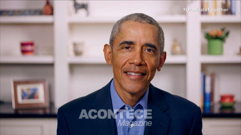 O ex-presidente Barack Obama fala durante o Graduate Together: America  Honors the High School Class of 2020